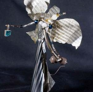 Magnetfuß für Metallskulptur