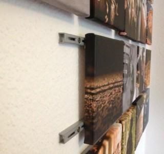 Sehr kreative Lösung für Befestigung von Foto-Leinwänden