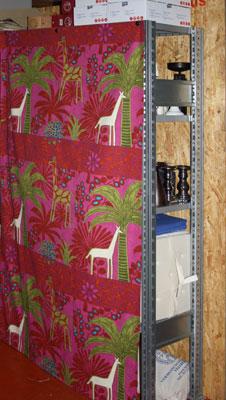 Regal Mit Vorhang Verstecken Wohn Design