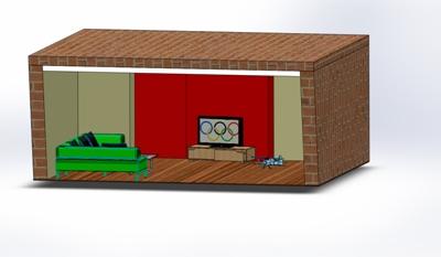 Design Plexiglas-Abdeckung für LED-Beleuchtung im Wohnzimmer
