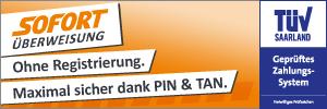 Zahlung mit SOFORT Überweisung bei magnet-shop.net möglich