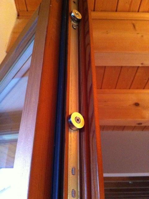 Magnetanwendung für eine Terrassentür
