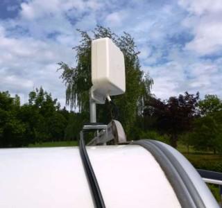Magnetbefestigung für LTE-Wohnwagenantenne
