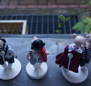 Kreative Magnethalterung für handgefertigten Puppen