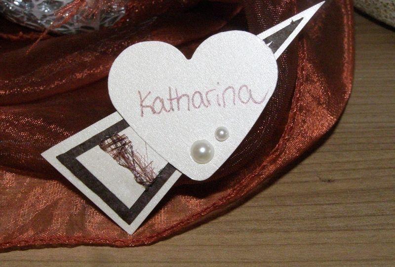 Namensschilder mit Magnet - Anstecker von Vorne mit Herz