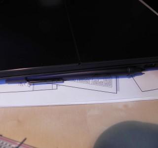Notebook-Halterung für Eingabestift