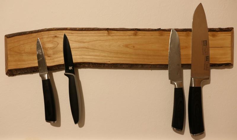Messerleiste Unikat aus Wildkirsche