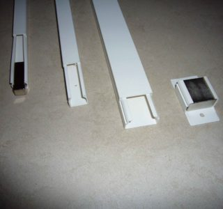 Befestigung von Quadermagneten mithilfe von Kabelkanälen
