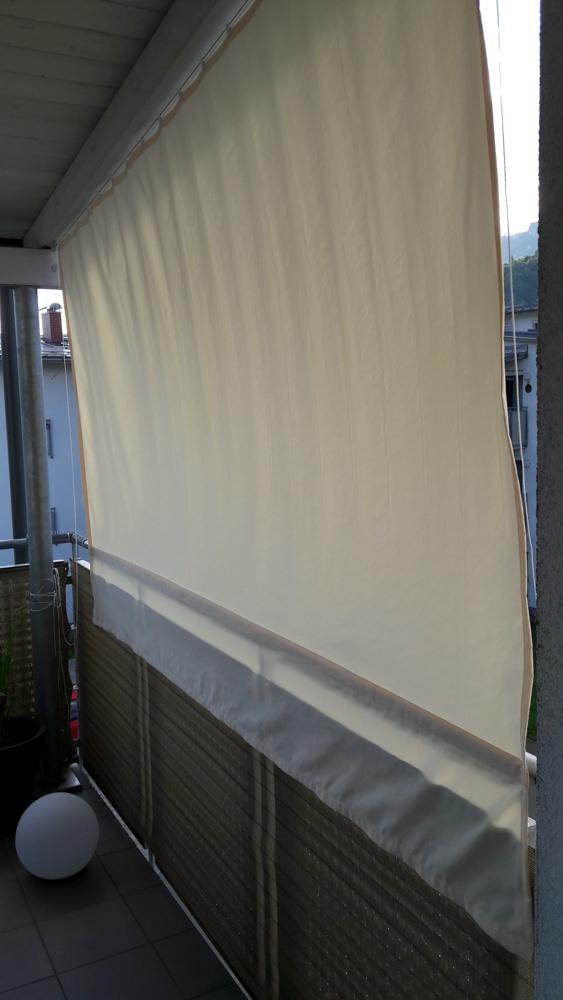 Sonnensegel mit Magneten sicher am Balkon befestigen