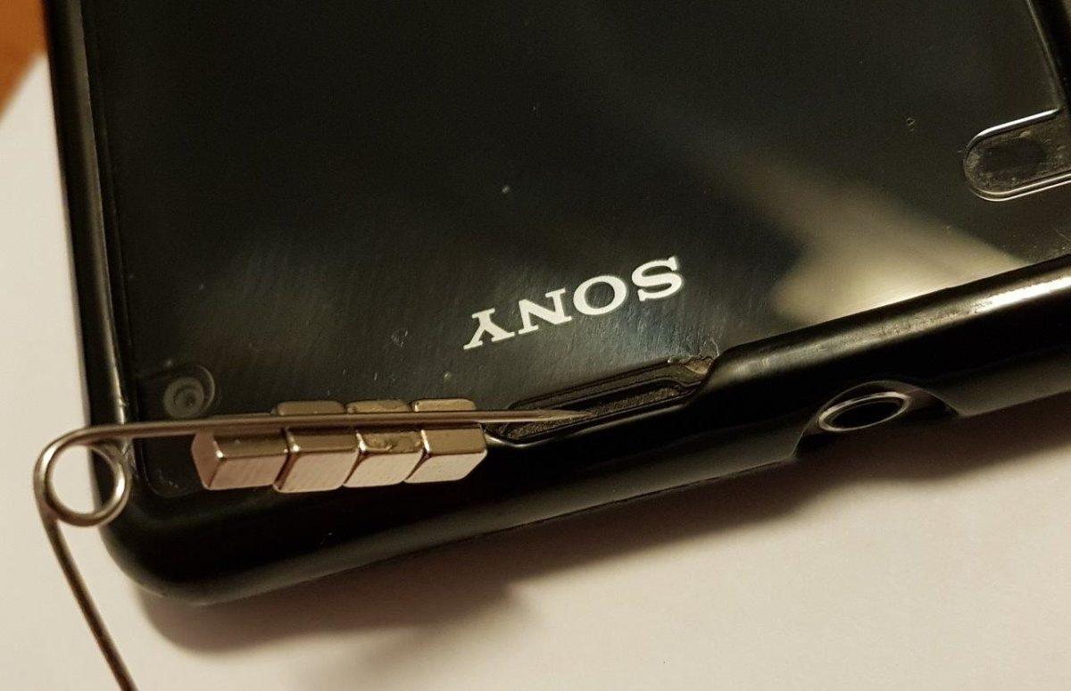 Smartphone-Rettung mit Magneten