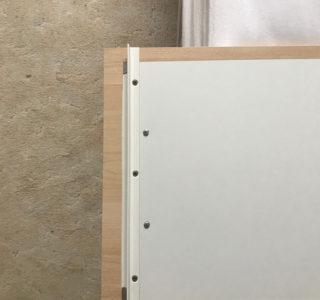 Tafel von der Rückseite mit kleinem Profil