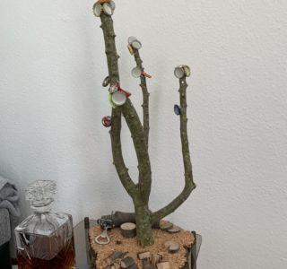 Gesamtansicht magnetischer Bierbaum