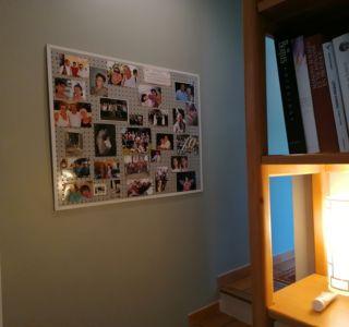 Collage auf Fotowand