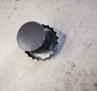Einkleben der Magnete