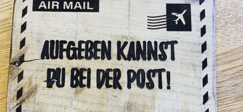 Postkarten Schild
