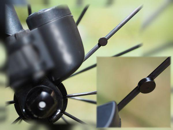 Speichenmagnet für Rennrad