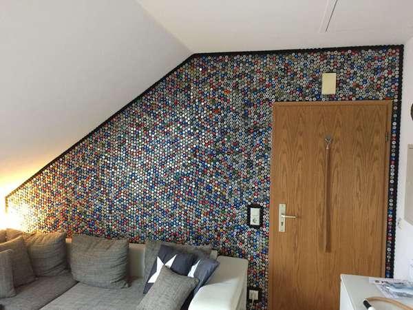Kronkorken Wand
