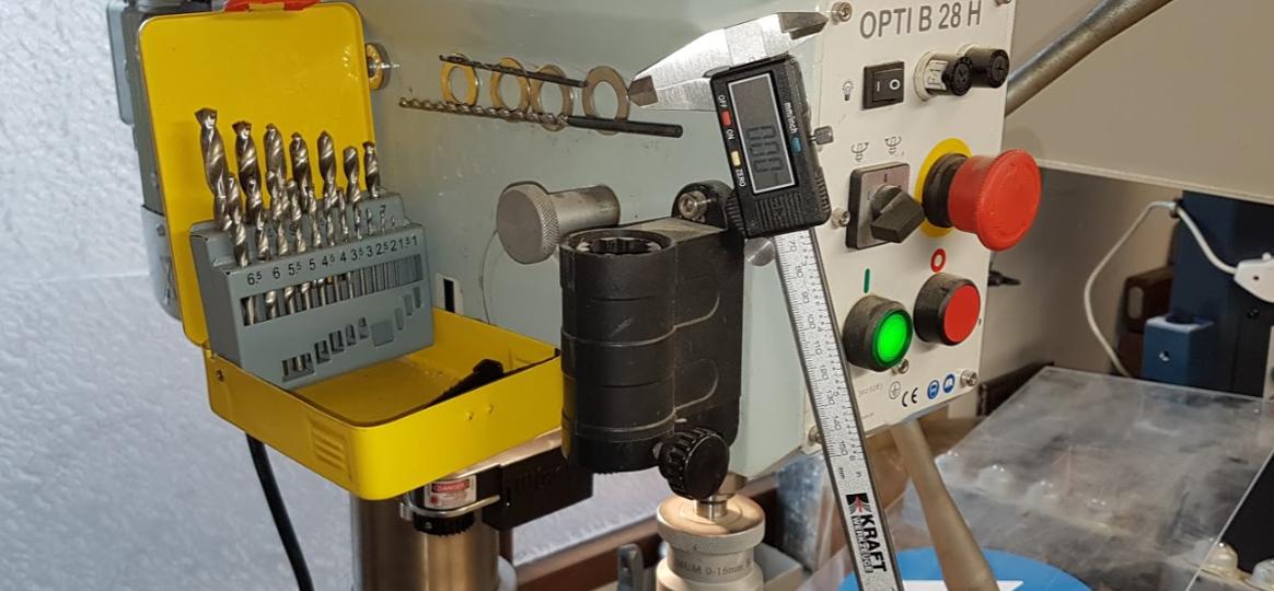 Werkzeug an Bohrmaschine