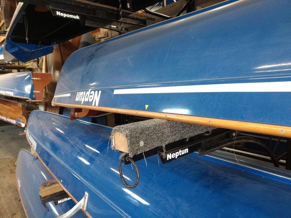 Flexible Liegeplatzbeschriftung der Ruderboote