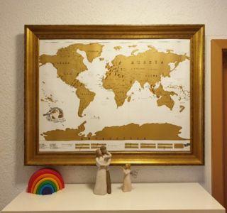 Trip Map - selbstgemachte Pinnwand Weltkarte ohne Pins
