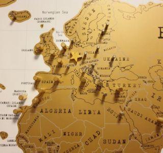 Markierte Länder mit Magneten