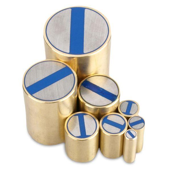 Haltemagnet NdFeB h6-8 kg Neodym Stabgreifer Messing /Ø 13 x 20 mm