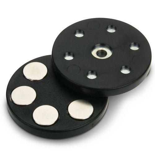 hält 10 kg Werkstatt Magnetsystem Ø 43 mm gummiert für Kabelmontage montage